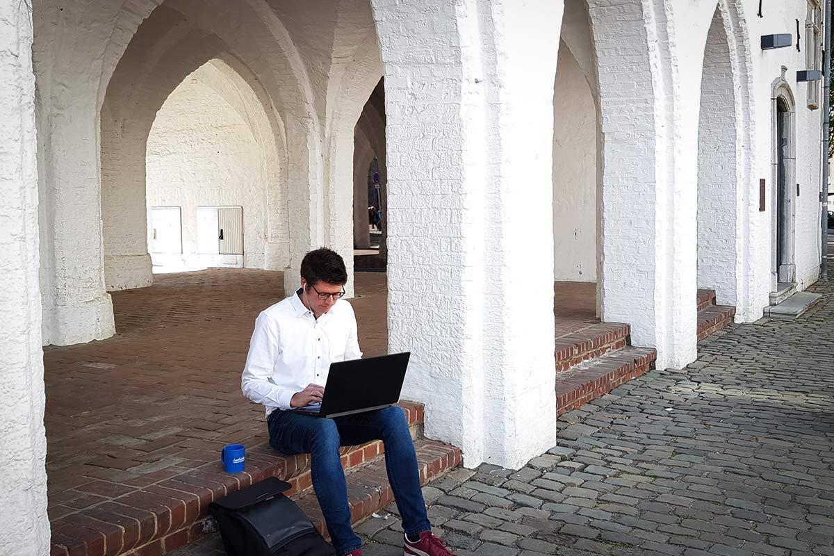Digitalisierung am Rathaus in Erkelenz