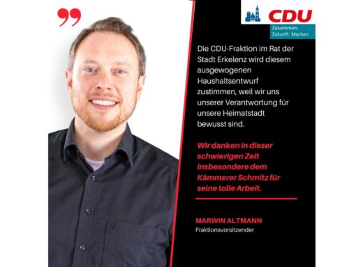 Haushaltsrede der CDU-Fraktion für das Jahr 2021