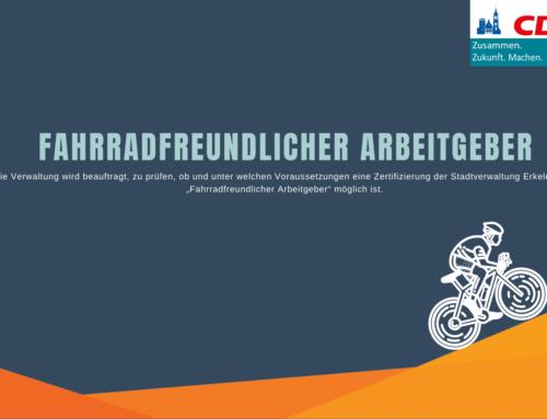 """Zertifizierung als """"Fahrradfreundlicher Arbeitgeber"""""""